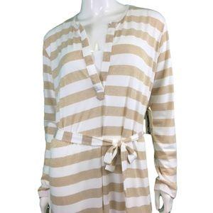 NWT Butterfly Zebra White/Gold Maxi Dress